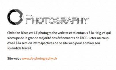 Haute Ecole d'Ingénierie et de Gestion du Canton de Vaud soudent association's Award; Website AGE HEIG-VD, Mars 2017.